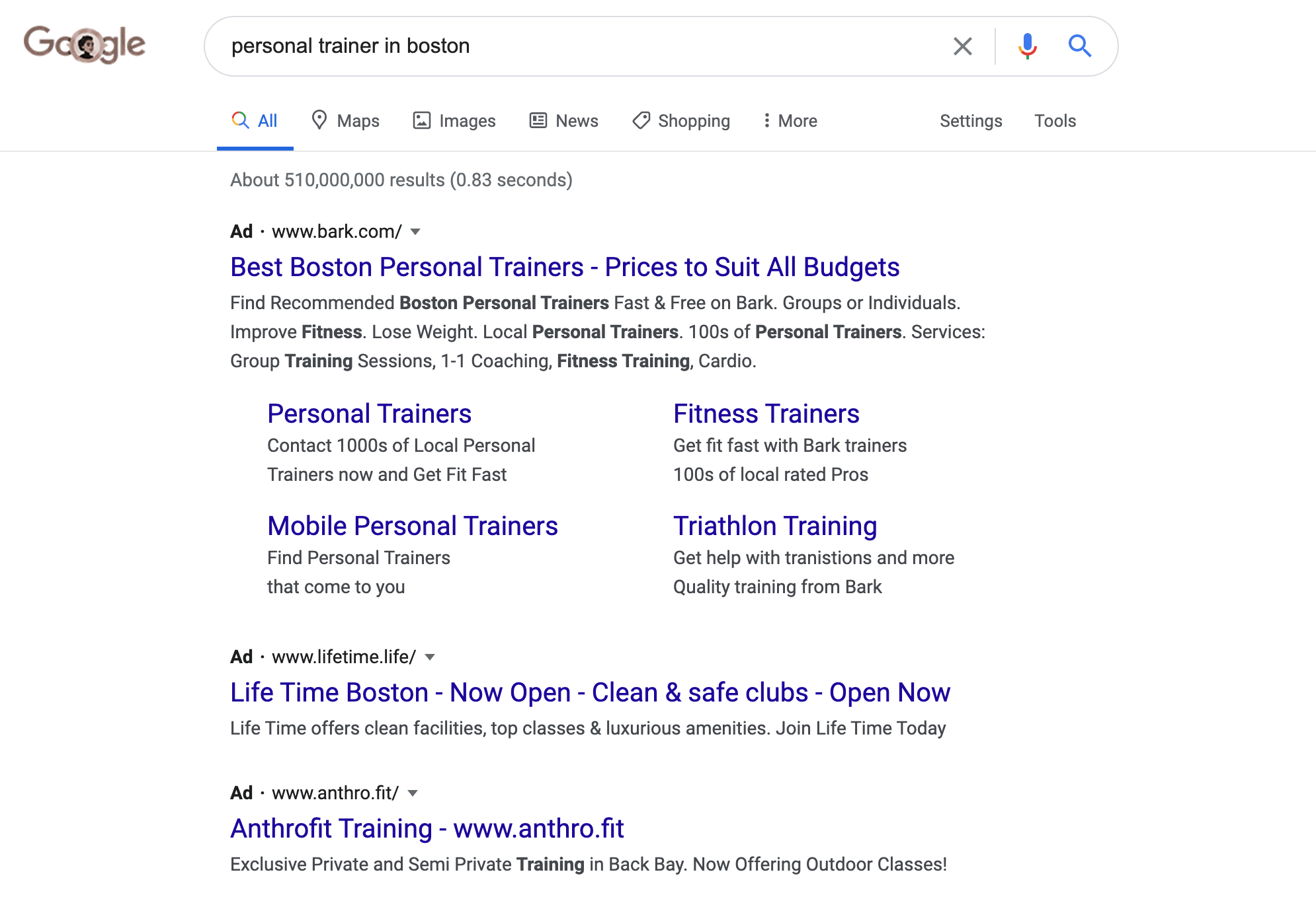 paid search advertising on google adwords